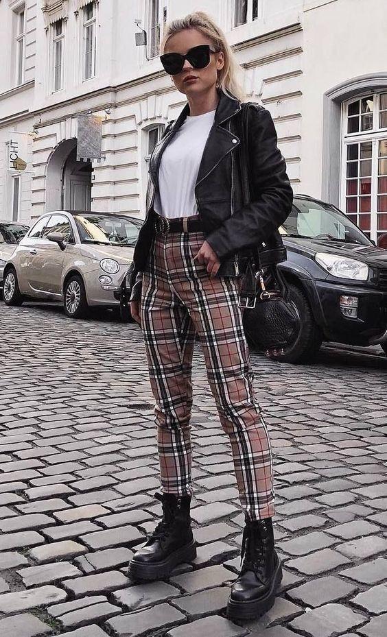 come indossare la giacca di pelle